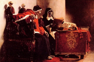 The Pope and the Inquisitor, known as Sixtus IV and Torquema by Jean-Paul Laurens